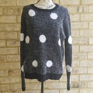 Gorgeous For The Republic Sweater Polka dot Sz L